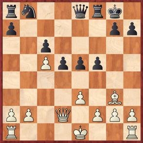 Wagner - Gottas: Hier verpasste es Schwarz mit 19. ... f4! Das Zentrum zu öffnen und den weißen König an der Rochade zu hindern.