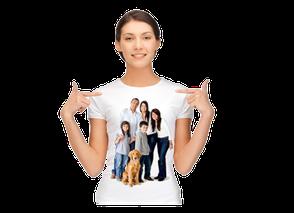 Mehrfarbiger Druck Hof, T-Shirt bedrucken Hof