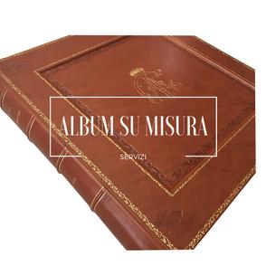 Album su misura pelle, personalizzato, stampato