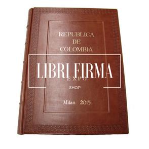 Libro ospiti personalizzabile - Conti Borbone - Libro ospiti in pelle