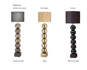 Stehleuchten und Tischleuchten Serie BILBA von envy lighting