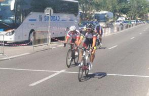 J-Claude battu au sprint pour la dixième place..........