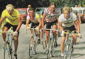 Tour 1984 acec Fignon, Hinault et Lemond