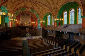 Innenraum der Lutherkirche in Wiesbaden