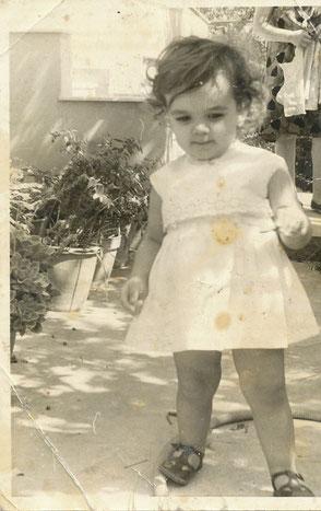 Nel giardino di mia nonna ad Atene nel 1972