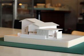倉敷市連島町の平屋住宅の模型写真