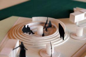 合祀墓・納骨堂の模型写真