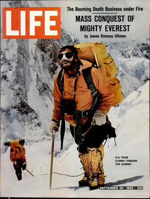 Ventile smock on Everest 1963