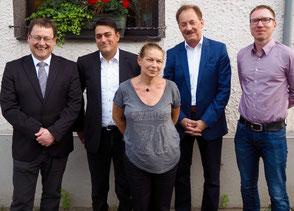 v.l. Detlef Krings, Serkan Lorenz, Claudia Render, Hartmut Anders, Christian Grau