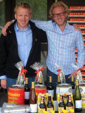 Turnierleitung: Ingo Probst (l.) und Philipp Meyer