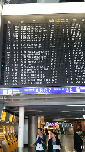 Constant LH pilot strikes have led to thousands of flight cancellations in recent months, as shown here in Frankfurt  -  photos: hs