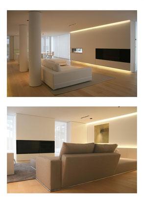 Master srl Impianti elettrici - Milano. Impianto illuminazione loft - Led arredo