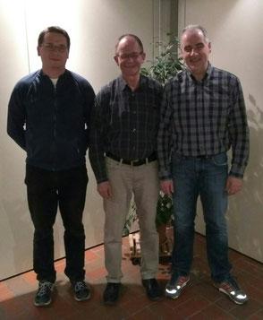 v.l.n.r.: Schriftführer Christoph Türks, Vorsitzender Barney Cruickshank, Schatzmeister Dirk Hansen