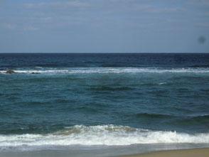 水深の有る砂浜