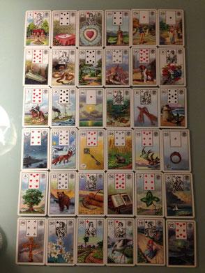 過去から未来をすべて見通す、6x6=36枚のカードでのグランタブロー