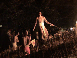 勝部の火祭りの模様