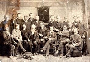 ca. 1865: Eines der ersten Liederkranz-Fotos