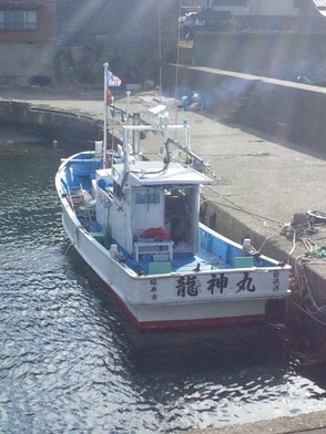 完全ふかせ釣り福井玄達釣り船遊漁船龍神丸の乗船場