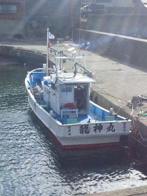 遊漁船龍神丸の乗船場