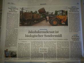 Entsorgung von Jakobskreuzkraut in Schleswig-Holstein kostenlos!
