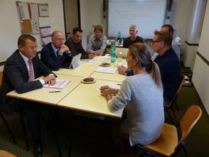 Interview mit dem Schulvorstand und der Steuergruppe im Rahmen des Peer Review