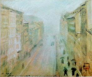 Otto Nagel - Blick aus seinem Atelier in die Grüntaler Straße