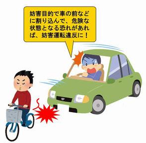 自転車のあおり運転