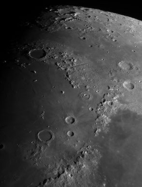 North central lunar region