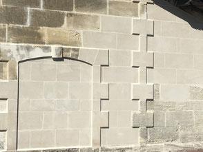 réparation de façade en pierre de taille à Jarnac, Cognac, Charente