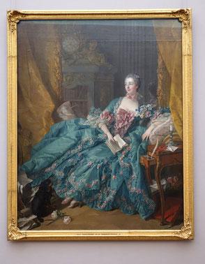 Madame de Pompadour, Francois Boucher, 1756, currently/Dez 2014 Neue Pinakothek München. picture taken by Nina Möller