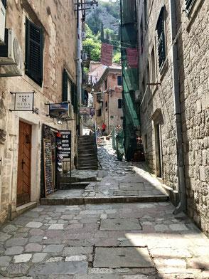 Start der Wanderung zur Festung von Kotor