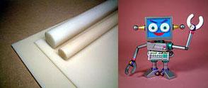 ABS板材・丸棒 Plastic materials