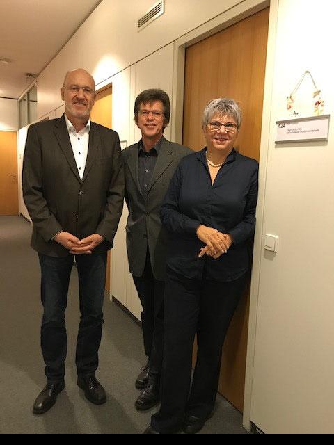 Jürgen Hatzfeld (vlw), Karl-Heinz Fuß (vlw) und MdL Helga Lerch