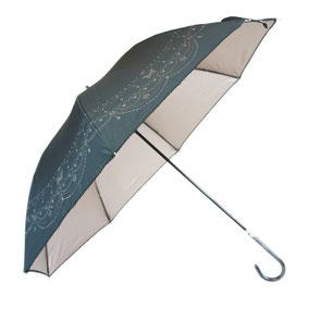 生地の裏側にPUコーティングされた晴雨兼用傘
