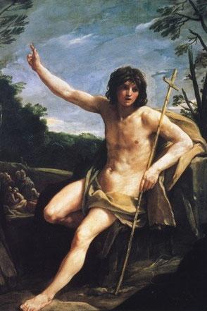 Saint Jean-Baptiste de Guido Reni - Exposé à Londres (Angleterre) au Dulwich Picture Gallery.