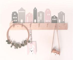 Sticker | Wandsticker - Häuser | Häuserreihe