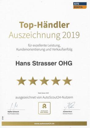 Auszeichnung Deutschlands beste Autohäuser von AutoScout24