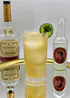 Cocktail French Maid, french maid, cocktail mit cognac, cocktail with cognac, cocktail mit hennessy, cocktail with hennessy, french cocktail