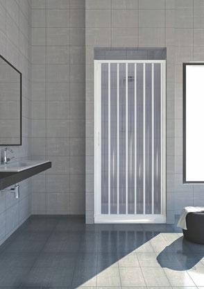 Box doccia in PVC per Nicchia ad una anta a soffietto reversibile