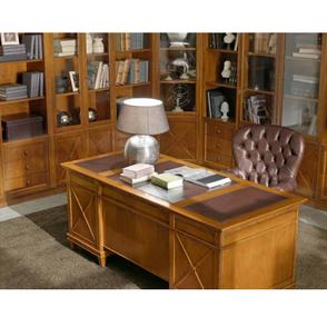 Scrivania e tavolo classico in legno