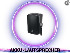 DJ, Eventtechnik, Ton, Video und Licht verleih. Akku Lautsprecher buchen.