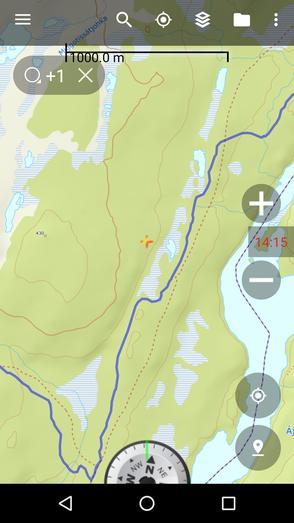 Kartenausschnitt (Statkart Topo 4 (Norway)) von Back Country Navigator
