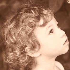 カーリーヘアーの写真