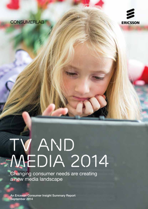 "Portada del Informe ""Ericsson ConsumerLab, TV and Media 2014""."