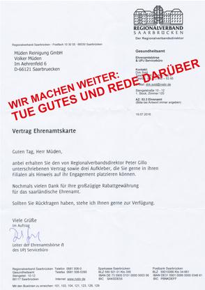 mueden.de, blog, Ehrenamt Saarbrücken, Schreiben Ehrenamtkarte