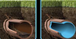 Rénovation d'une canalisation apres traitement RENOCANA