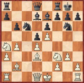 Hein - Margenberg: Weiß entschied sich mittels 14.0-0 zu rochieren, viel versprechend war die Alternative 14.h4!