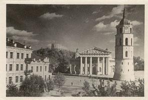 """Vilnius. Gedimino aikštė (apie1960m.) / Gediminas square about 1960. Photo """"Dinamo"""""""