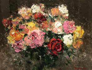 「薔薇」 油彩 F6号