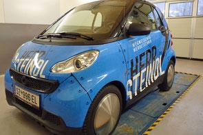 Vollverklebung Smart - Unser Kundemobil für Sie!